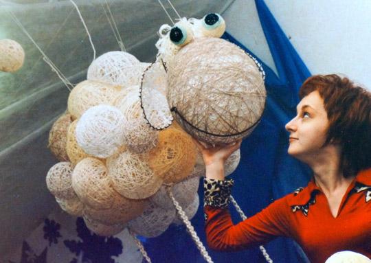 Овца из нитяных шариков