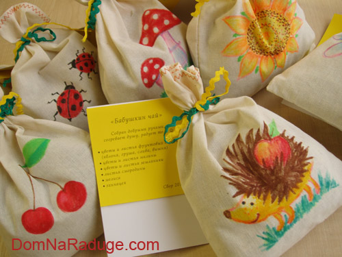 рисунки на мешочках для чая