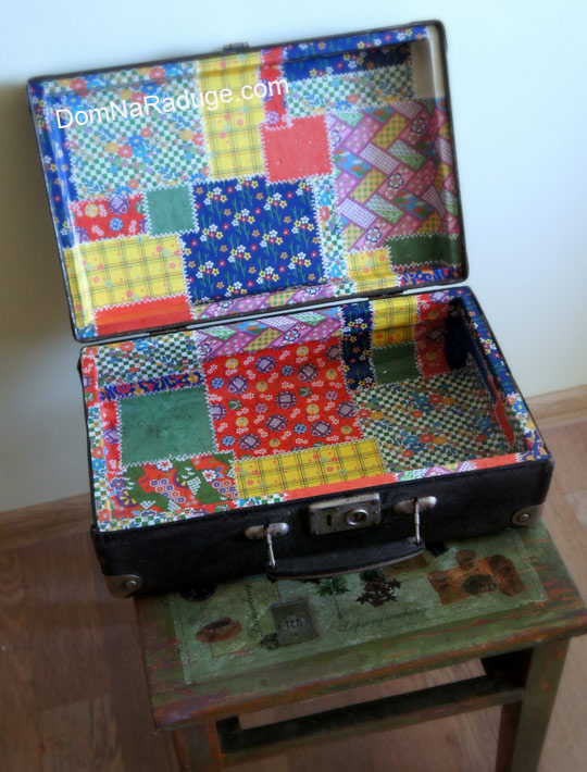 декор старого чемодана