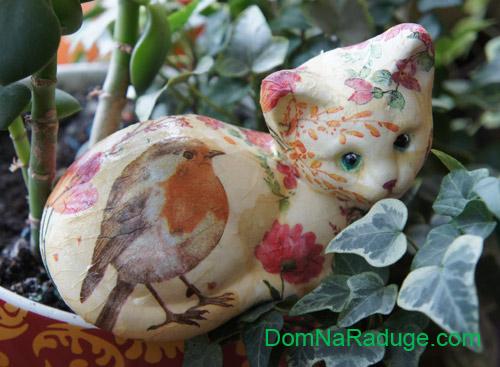 декупаж - декор фигурок из пенопласта