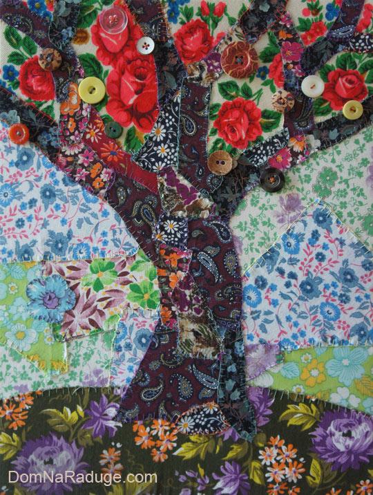панно ситцевое деревце