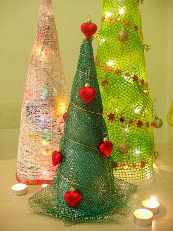 Подделки новогодние елки своими руками