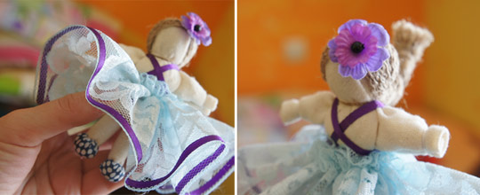 кукла на счастье Фиалка