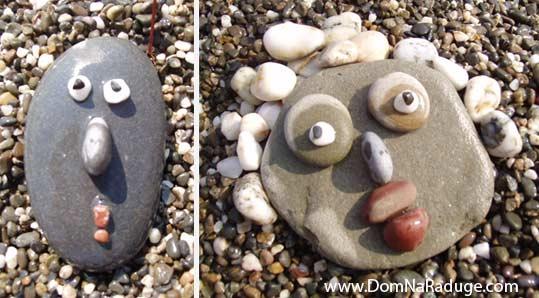 портреты из морских камушков