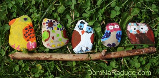 Разрисованные камушки - совы
