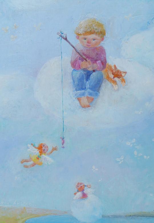 """картина """"Карамельки для Ангела"""", фрагмент"""
