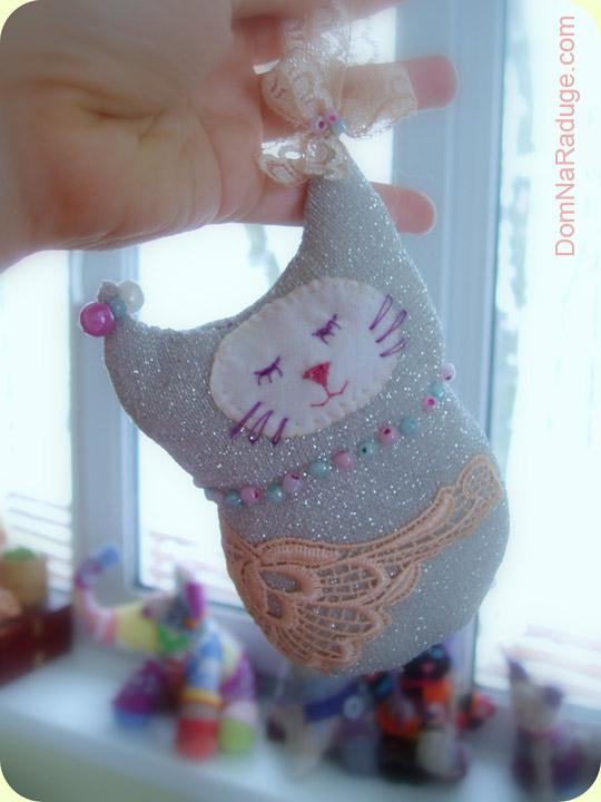 кошка - игрушка на ёлку