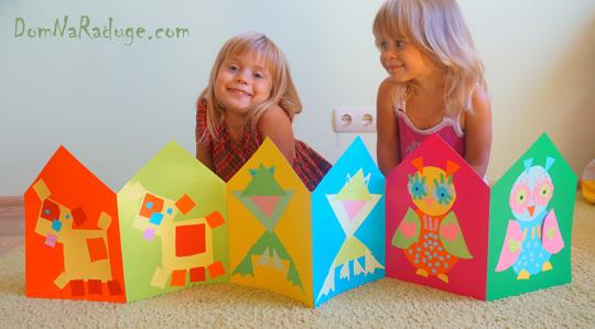 книжка-раскладушка - делаем вместе с детьми