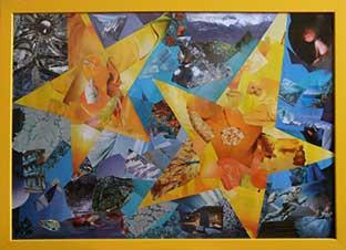 Коллаж с жёлтыми звёздами