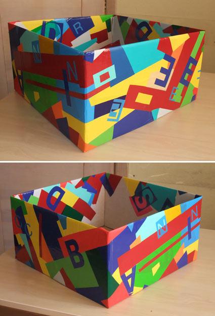Как украсить огромную коробку своими руками