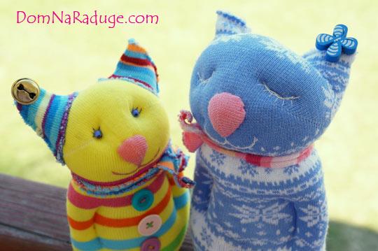 игрушки из носков - котики