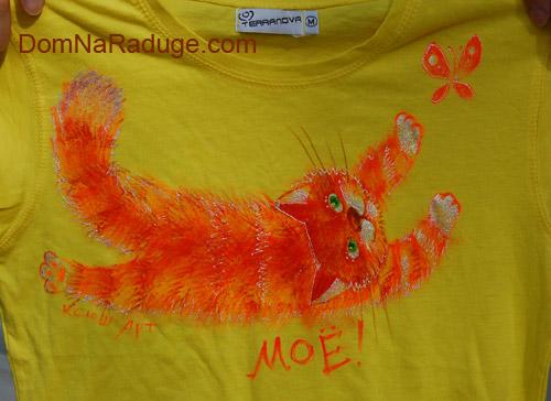 рисунки на футболках - коты и кошки