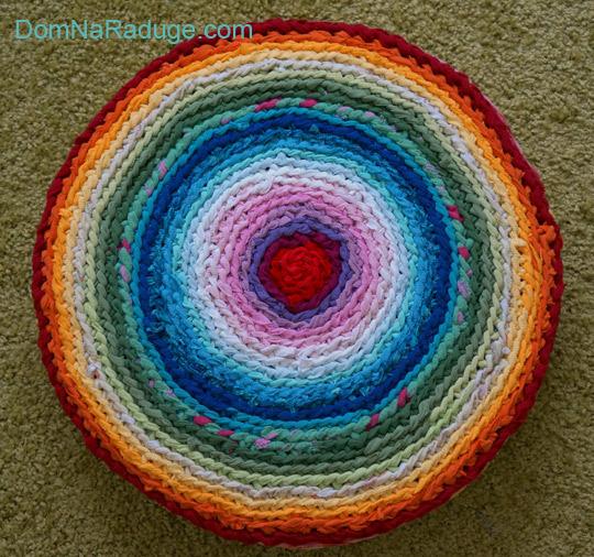 бабушкин коврик - радужная подушка