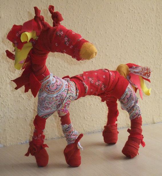 лошадка из лоскутков
