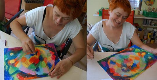 мастер-класс: рисуем масляной пастелью
