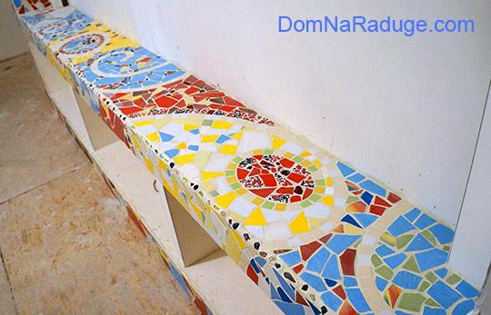 мозаика из битой плитки (на заказ)