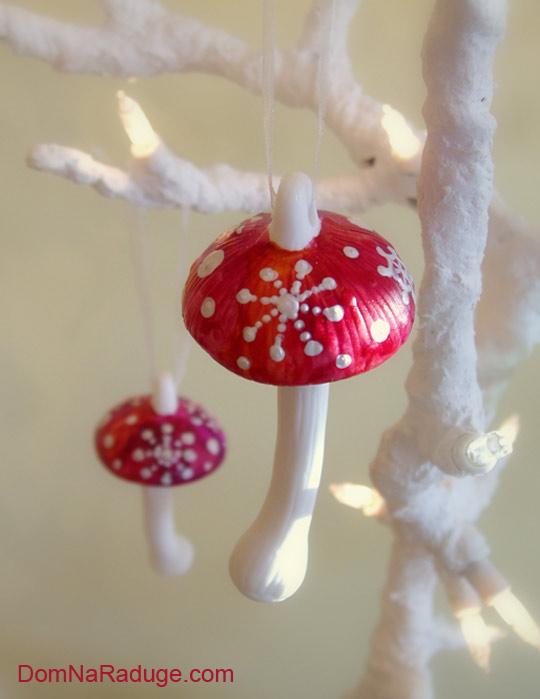 ёлочные игрушки мухоморы