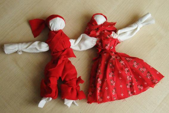 Куклы неразлучники своими руками фото