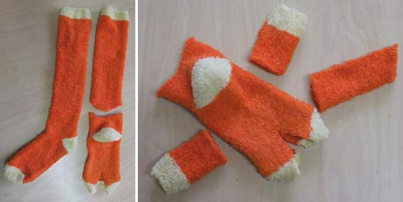 рыжие махровые носки