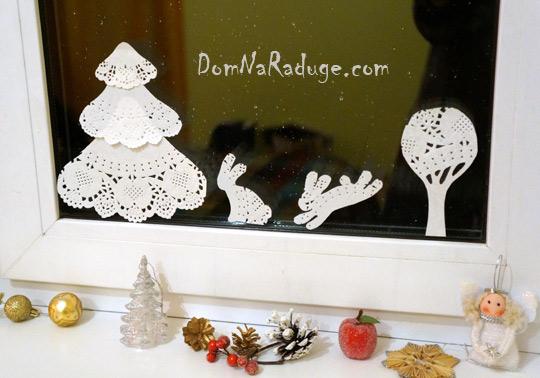 снежинки, ёлочки и прочая бумажная сказка на окно