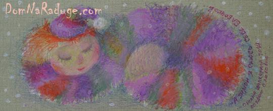 """рисунок масляной пастелью """"А зимой я снюсь себе бабочкой..."""""""