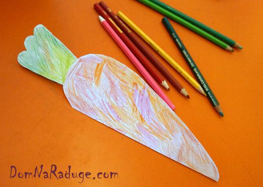 открытка валентинка-морковка