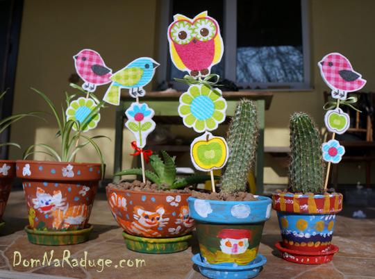 декор цветочных горшков