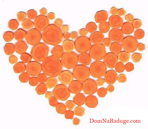 морковное сердечко