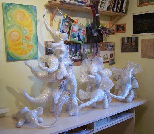 мастер-класс по слоникам из полиэтилена