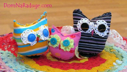 сова - игрушка из носка, мастер класс