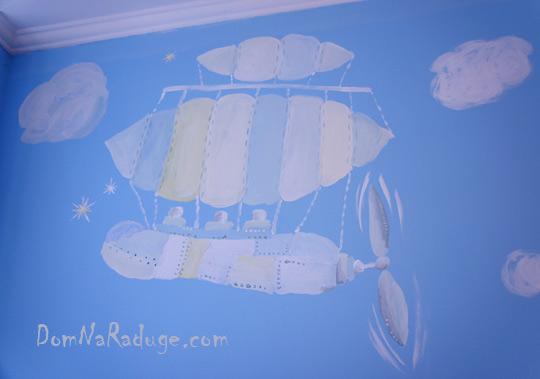 роспись стен - фантастические летательные аппараты