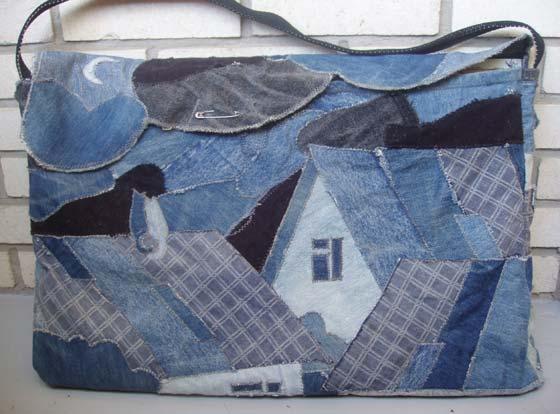 Джинсовая сумка для этюдов.