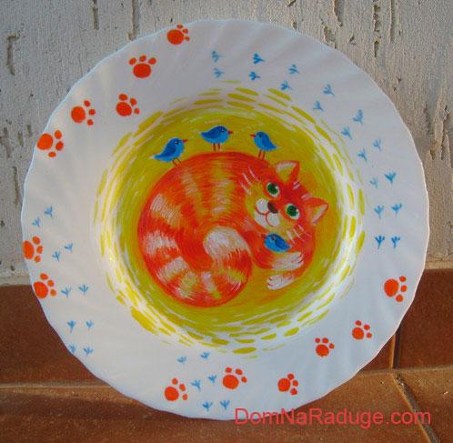 роспись по керамике - декоративная тарелка