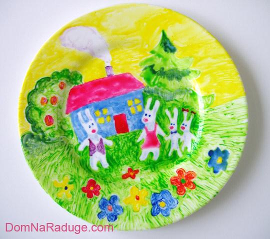 роспись тарелок: сестричкина домашняя