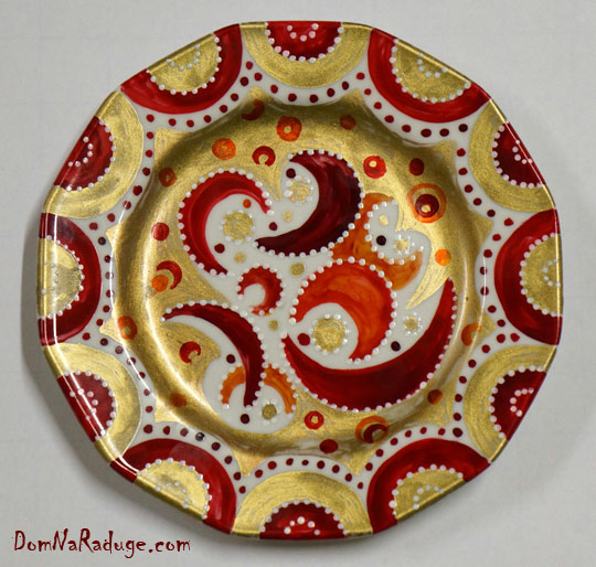 расписные декоративные тарелки