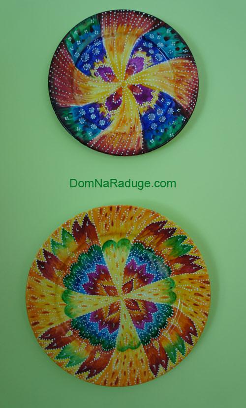 расписные тарелки