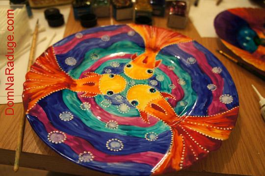 роспись по тарелкам
