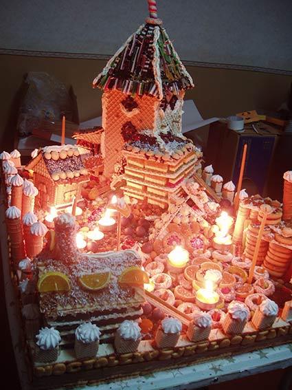 необычный город-торт