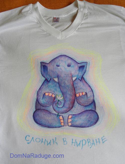 """футболка """"слоник в нирване"""""""