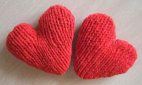 самодельные сердечки