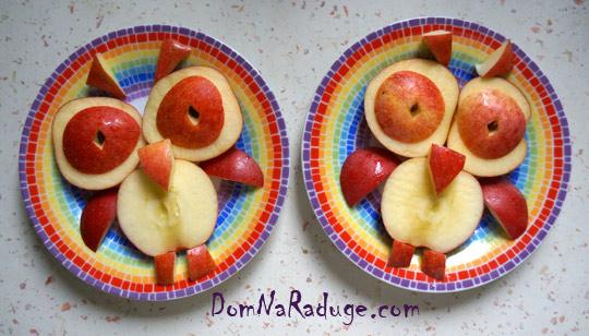 фигурки из яблок