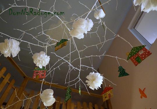 новогодние декорации - домики в сказочном лесу